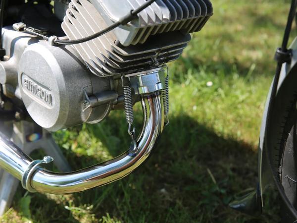 Tuningauspuff Resonanzauspuff 60-85ccm mit Kalotte - für Simson S50, S51, S70,  10068680 - Bild 1