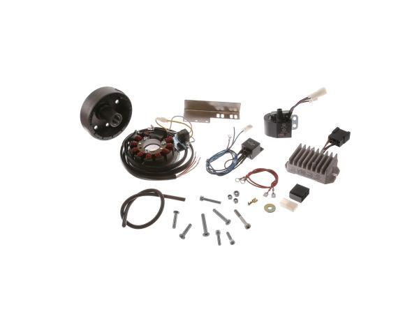 10059184 Lichtmagnetzündanlage 12V 150W mit integrierter vollelektronischer Zündung, passend für JAWA 11/353/355/356/559/590 und CZ 450/455/470/475/477/482/485 - Bild 1