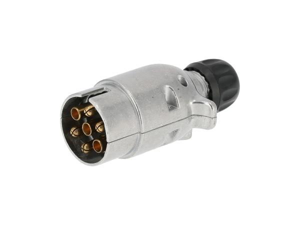 Stecker, 7-polig für Anhänger, aus Metall,  10055607 - Bild 1