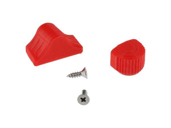 10069053 Set: Abblend- & Blinkerschalterknopf 3D, Rot - für S51, S70, SR50, SR80, ETZ - Bild 1