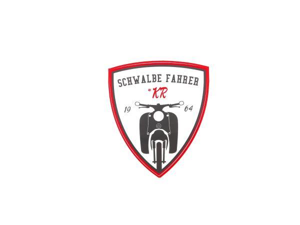 """10066333 Aufkleber - """"Schwalbe Fahrer #KR"""" Rot/Weiß/Schwarz, Wappen - Bild 1"""