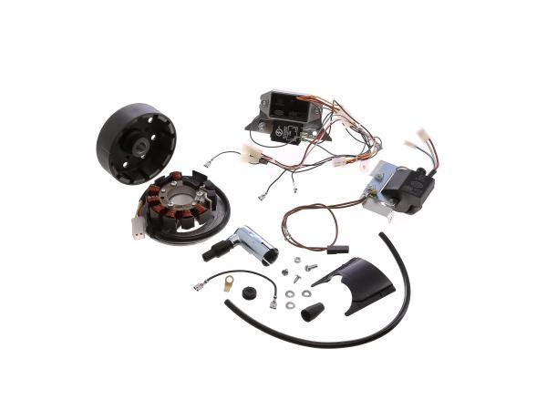 Set: Umrüstsatz VAPE auf 12V (ohne Batterie, Hupe und Leuchtmittel) - Simson S50, S51, S70,  10001915 - Bild 1