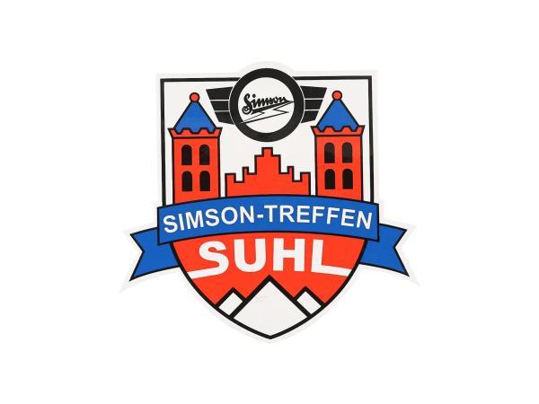 """Aufkleber - """"Simsontreffen Suhl"""", Wappen,  10069670 - Bild 1"""