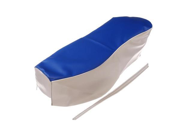 Sitzbezug blau-grau mit Haltriemen (Doppelsitzbank) - für AWO-Sport,  10067634 - Bild 1