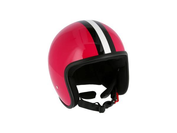 """ARC Helm """"Modell A-611"""" Retrolook - Pink mit Streifen,  10071225 - Bild 1"""