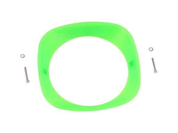 Scheinwerferring 3D, Neon Grün transluzent - für Simson KR51 Schwalbe, SR4-2 Star, SR4-3 Sperber, SR4-4 Habicht - MZ ES125, ES150 - IWL TR150 Troll,  10070932 - Bild 1