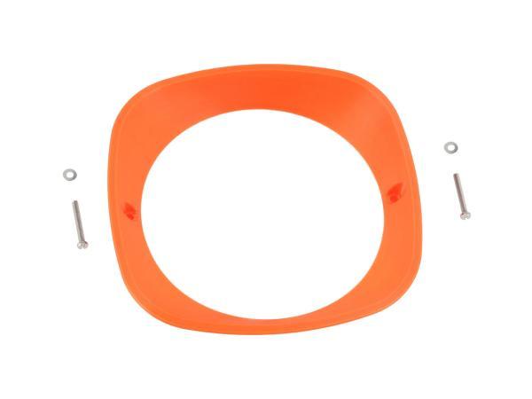 Scheinwerferring 3D, Neon Orange - für Simson KR51 Schwalbe, SR4-2 Star, SR4-3 Sperber, SR4-4 Habicht - MZ ES125, ES150 - IWL TR150 Troll,  10070928 - Bild 1
