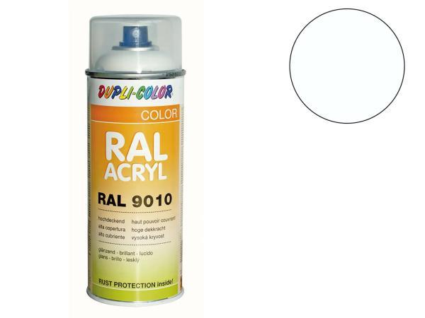 Dupli-Color Acryl-Spray RAL 9010 reinweiß, glänzend - 400 ml,  10064884 - Bild 1