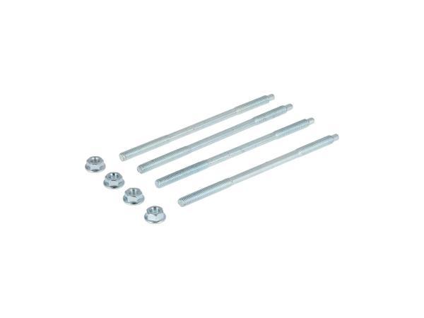 Set: 4x Zuganker mit Muttern - M6x130mm für M52, M53, M54 - S50, KR51/1 Schwalbe, SR4-2 Star, SR4-3 Sperber, SR4-4 Habicht,  10070286 - Bild 1