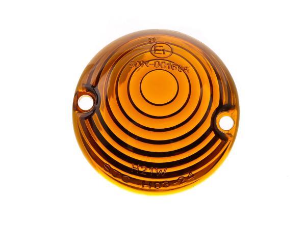 10067742 Blinkerkappe Ochsenauge, Orange getönt - für Simson KR51 Schwalbe - MZ ES - IWL TR150 Troll - Bild 1