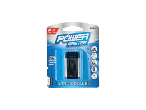 10068797 Power Master Alkali-Batterie 6LR61 - 9Volt Block - Bild 1
