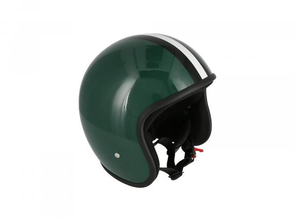 """ARC Helm """"Modell A-611"""" Retrolook - Grün mit Streifen,  10069597 - Bild 1"""