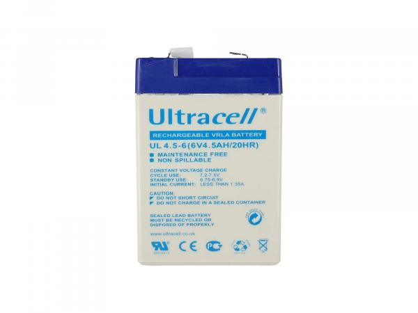 Batterie 6V 4,5Ah Ultracell (Gelbatterie),  GP10000565 - Bild 1