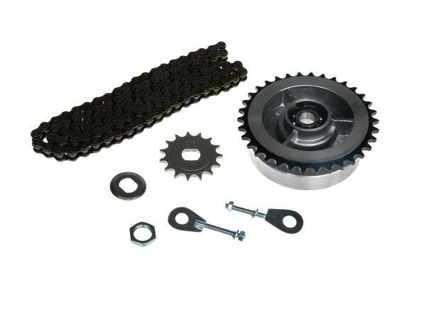 Kleines Kettenradantrieb-Set (Ketten-Set) - für Simson S51, S70, S53, S83,  10000453 - Bild 1