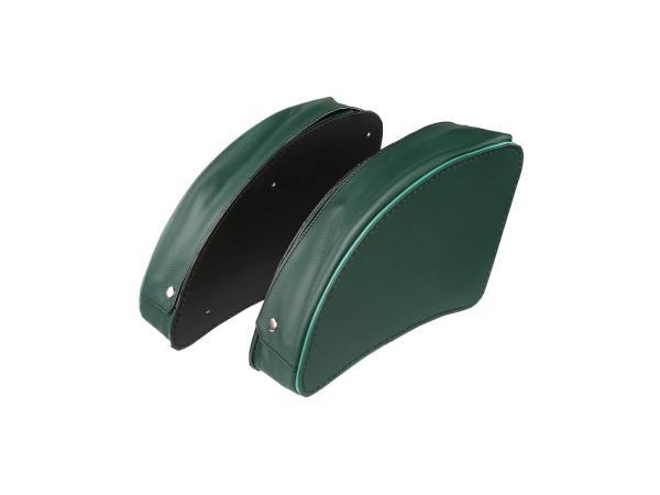 10056083 Set: Packtasche Grün links/rechts - für MZ ES175, ES175/1, ES250, ES250/1, ES300 - Bild 1