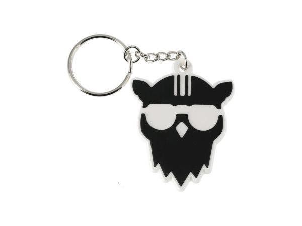 """Schlüsselanhänger """"Eule mit Helm"""" aus Soft-PVC, mit Schlüsselring,  10069542 - Bild 1"""