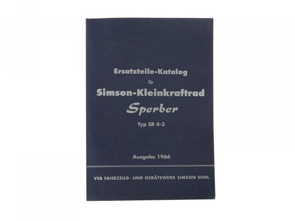 Ersatzteilkatalog, Ausgabe 1966 - Simson SR4-3 Sperber,  10063855 - Bild 1