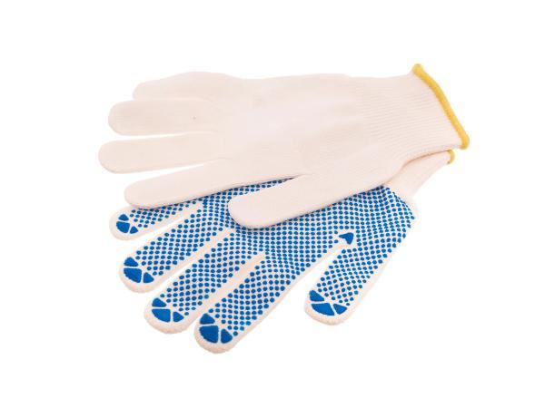 10056556 1Paar Arbeitshandschuhe Gr 08, Textil mit Noppen - Bild 1