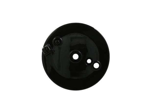 Bremsschild hinten, schwarz, mit Bohrung für Bremskontakt - Simson S50, S51, S70, KR51/2 Schwalbe,  10069536 - Bild 1