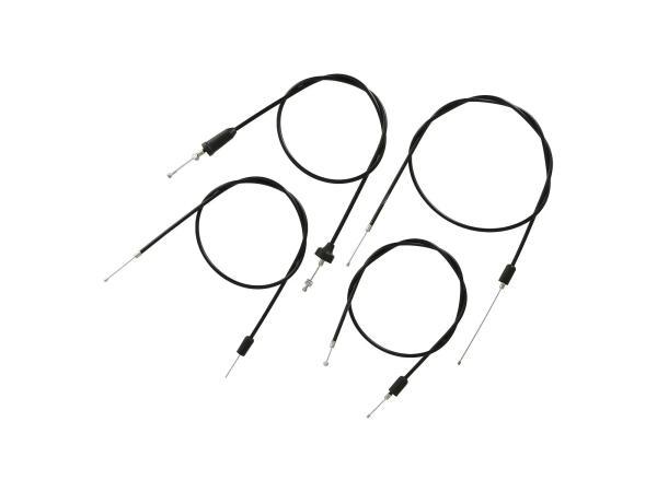 10069813 Set: 4 Bowdenzüge schwarz, Scheibenbremse, Öldosierung - MZ ETZ 250 - Bild 1