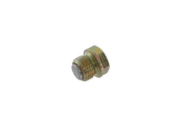 Ölablassschraube mit Magnet - für Simson S50, KR51/1 Schwalbe, SR4-2 Star, SR4-3 Sperber, SR4-4 Habicht,  10002158 - Bild 1