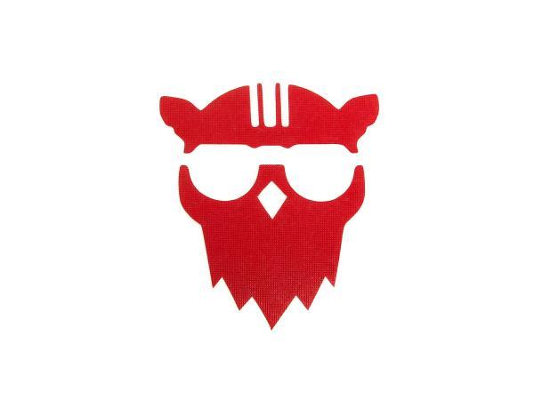 """Aufkleber - """"Eule mit Helm"""" Folienplot Rot, mit Übertragungsfolie,  10066278 - Bild 1"""