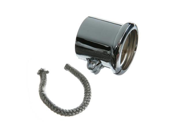 Schelle mit Wulst zum Auspuff, Ø=40mm,  verchromt passend für BK350,  10059093 - Bild 1