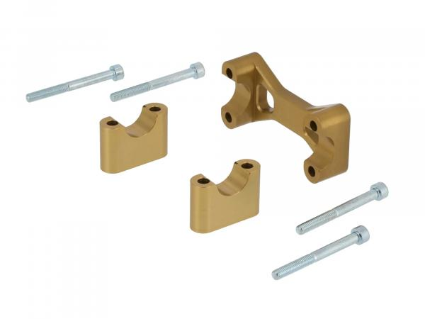 AKF Tuning-Lenkeraufnahme, Gold eloxiert - für Simson S50, S51, S70, Enduro,  10070559 - Bild 1