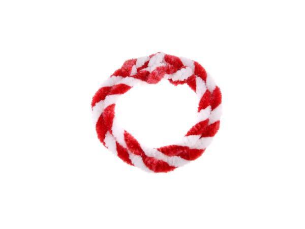 10057748 Nabenputzringe Rot/Weiß (Set 1x 25cm + 1x 30cm für Fahrrad) - Bild 1
