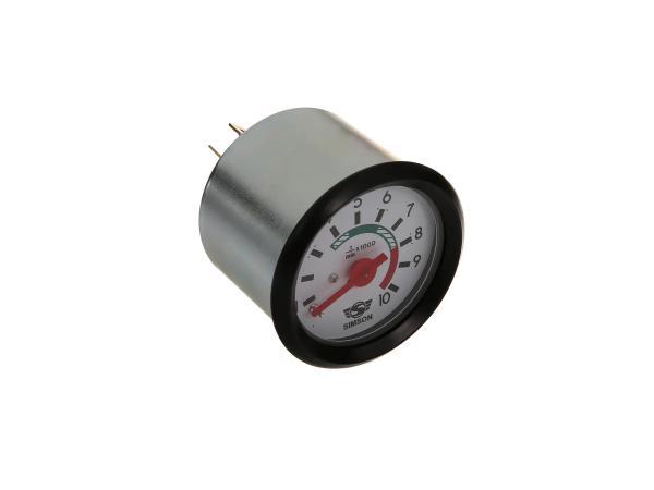 10044081 Drehzahlmesser 12V mit Beleuchtung und Masseanschluss ø 60mm - Bild 1