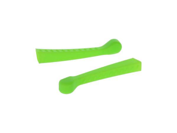 Set: 2x Handhebel-Hülle 3D, Neon Grün, Sport-Optik - für Simson S50, KR51/1 Schwalbe, SR4-2,  10070480 - Bild 1