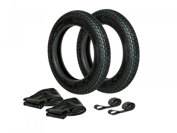 GP10000310 Set: 2x Reifen 3.00 x 12 Vee Rubber VRM 220 + 2x Schläuche + 2x Felgenband - Bild 1