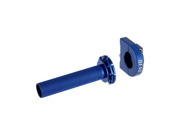 Gasgriff RESO, Blau eloxiert, für Ø22mm-Lenkerrohr,  10070595 - Bild 1