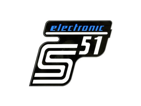 """Klebefolie Seitendeckel """"S51 electronic"""" - Blau,  10071162 - Bild 1"""