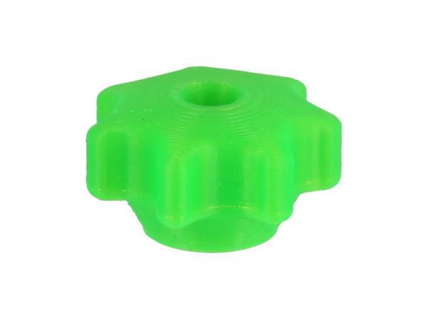 Sterngriffmutter 3D, Neon Grün transluzent, für Motorabdeckung und Haube - für Simson KR51, SR4, SR50, SR80,  10070933 - Bild 1