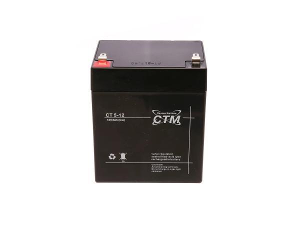 Batterie 12V 5Ah CTM (Vlies - wartungsfrei) - für Simson S51, S70,  GP10068568 - Bild 1