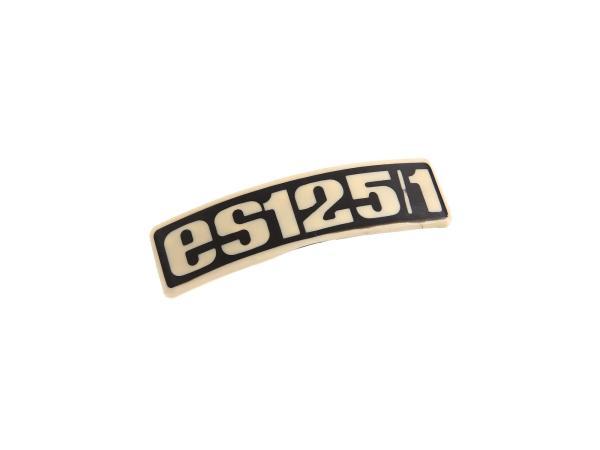 Typenschild - Plakette - Abzeichen für  ES125/1 - Plastik,  10061667 - Bild 1