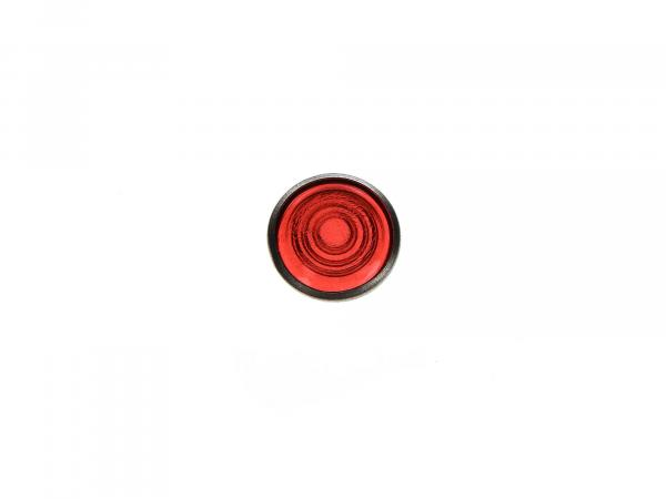10003681 Kontrollglas, Rot, Alu-Fassung, Ø16mm - für Simson AWO, MZ RT, BK350, EMWR35 - Bild 1