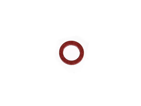Dichtung Ø10x14 (Fiber) für Benzinhahnsieb, für Schwimmernadelventil - für Simson S51, S50, SR50, Schwalbe, SR4,  10000311 - Bild 1
