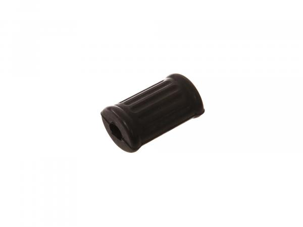 Fußschaltgummi oval schwarz (grob gerippt),  10066409 - Bild 1