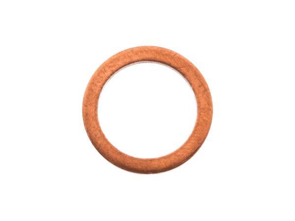 Kupferdichtring, für Hohlschraube Bremsschlauch - für Simson S53, S83, SR50, SR80,  10000625 - Bild 1
