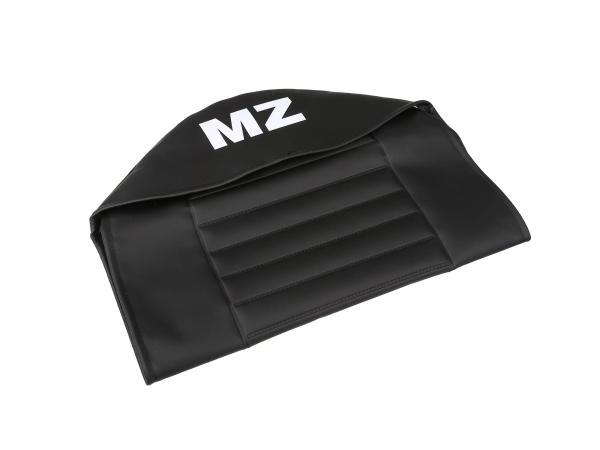 Sitzbezug strukturiert, schwarz mit MZ-Schriftzug - für MZ TS125, TS150,  10055999 - Bild 1