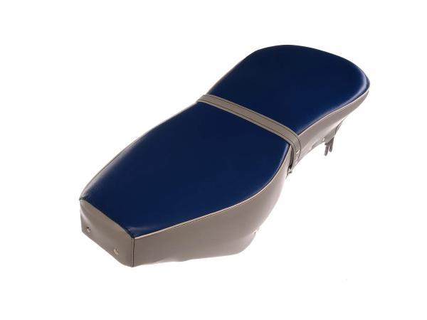 Sitzbank komplett blau-grau mit Riemen - für AWO-Sport,  10067620 - Bild 1