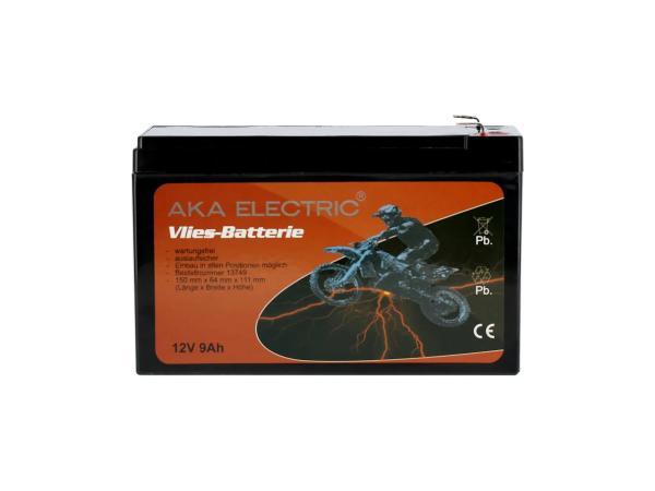 GP10068580 Batterie 12V 9Ah AKA (Vlies - wartungsfrei) - für MZ ETZ 125, ETZ 150, ETZ 250, ETZ 251, ETZ 300 - Bild 1