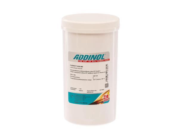 ADDINOL Fließfett SGA 600 - Natriumseifenfett auf Mineralölbasis - 1kg Dose,  10007788 - Bild 1