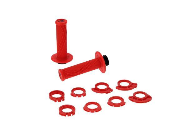 Lock-on Lenkergriffe Rot, für Schnellgasgriff,  10070441 - Bild 1
