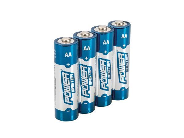 10068107 Set: 4x AA Power Master Alkali-Batterien, 1,5Volt - Bild 1