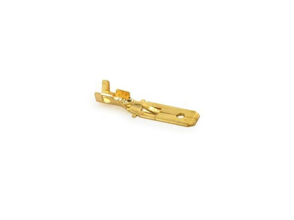 10061214 Flachstecker SET 100 Stück,  6,3 mit Rastnase - Kabelschuh  DIN 46343 für Kabel 0,75-1,5 - Bild 1