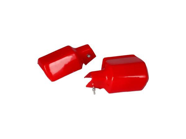 Set: 2x Protektor Lenkerhandschutz in Rot - für MZ ETZ,  10068774 - Bild 1