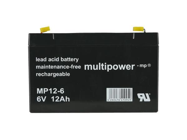10069178 Batterie - 6V 12Ah Multipower (Gelbatterie) - Bild 1